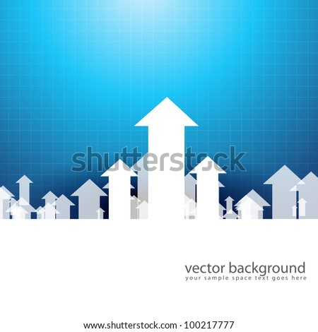 vector upside growing arrow design illustration - stock vector