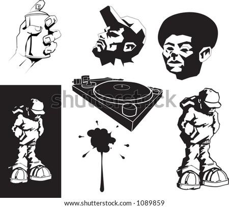 vector urban motifs/ stencils. - stock vector