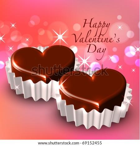 Vector Valentine's Chocolate - stock vector