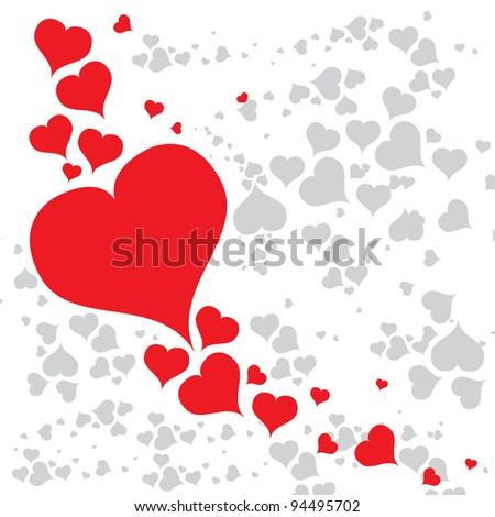 vector valentines day card - stock vector
