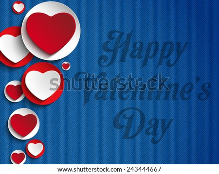 Vector - Valentines Day Heart Jeans Background - stock vector