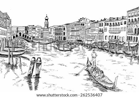Vector - Venice, Italy - stock vector