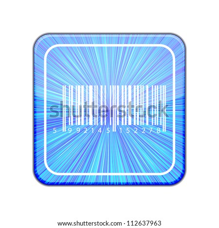 Vector version. Bar code icon. Eps 10 illustration - stock vector