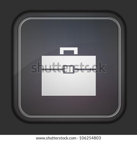 Vector version. Briefcase icon. Eps 10 illustration. Easy to edit - stock vector