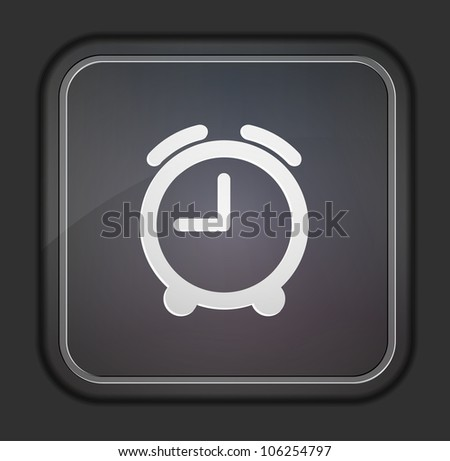 Vector version. Clock icon. Eps 10 illustration. Easy to edit - stock vector