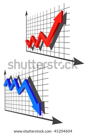 Vector version. Color graph for design and business concept. Jpeg version is also available - stock vector