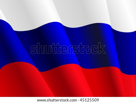 Vector version. Flag of Russia for design as a background or texture. Jpeg version is also available - stock vector