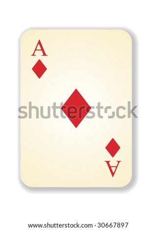 vector version of old vintage aces card - stock vector