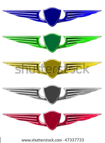 Vector version. Set of emblems for decoration isolated on white. Jpeg version is also available - stock vector