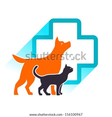 Vector veterinary emblem - stock vector
