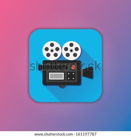 Vector Video Camera Icon - stock vector