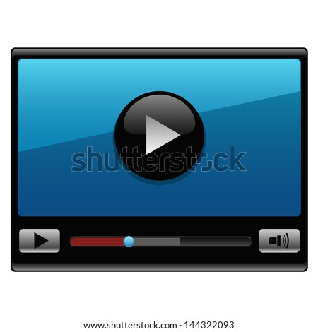 Vector video player - stock vector