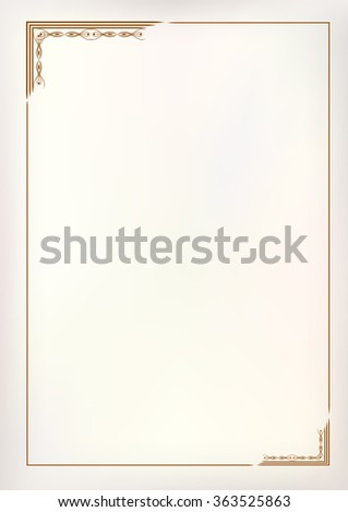 Vector vintage border frame  - stock vector