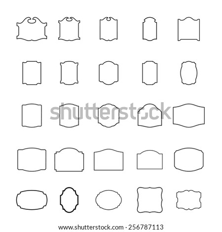 Vector - Vintage borders and frames in different styles  - stock vector