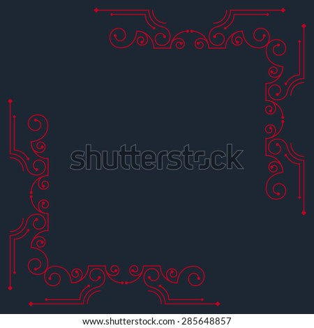 Vector vintage decorative frames. Retro design - stock vector