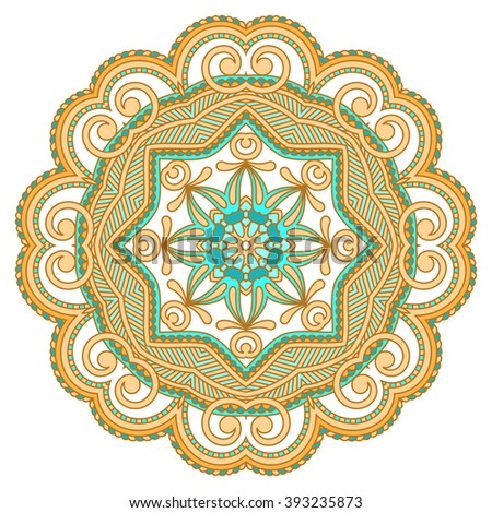 Vector vintage floral decorative element for design, print, embroidery. - stock vector