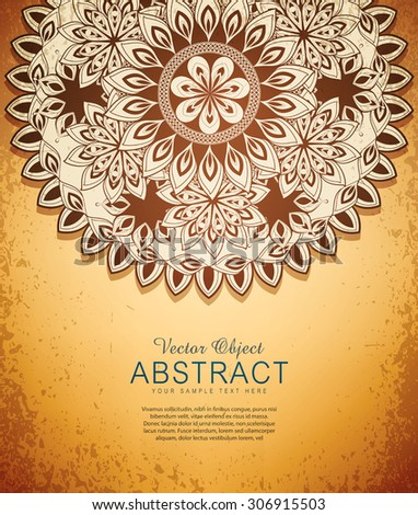 vector vintage  hand-drawn abstract flowers pattern - stock vector