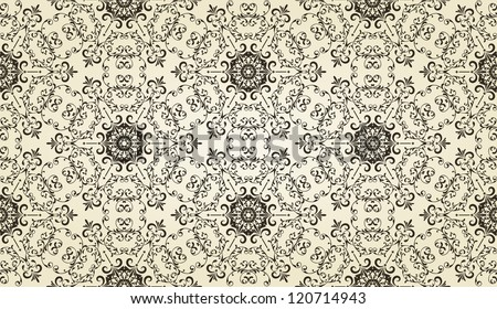 vector vintage hvintage highly detailed hexagon  snowflake, fully editable eps 8 file - stock vector