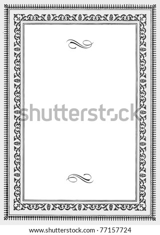Vector Vintage Ornamental Frame. Easy to edit. Perfect for invitations or announcements. - stock vector