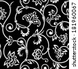 Vector vintage seamless pattern for print, embroidery. - stock vector