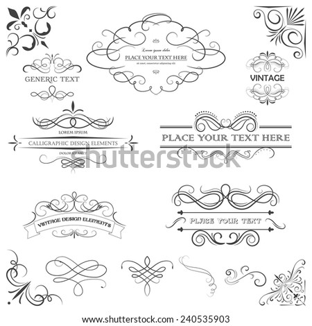 Vector vintage style elements. Vintage handwritten patterns and ornaments. - stock vector