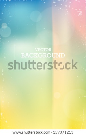 Vector vintage summer photographic unfocused background with light leaks - stock vector