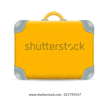 Vector vintage Travel Suitcase isolated on white - stock vector