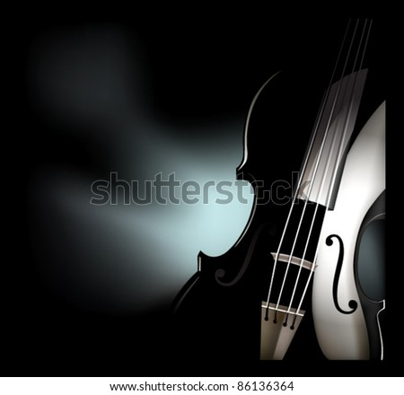 vector violin instrument graphic - stock vector