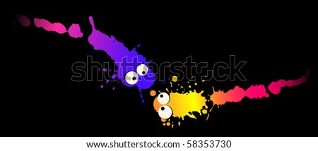 Vector virus and germs stock vector