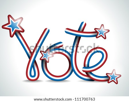 Vector - Vote USA Presidential Election Ribbon - stock vector