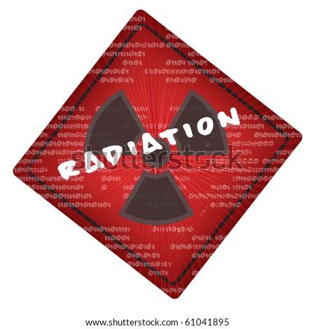 vector warning radiation sign - stock vector