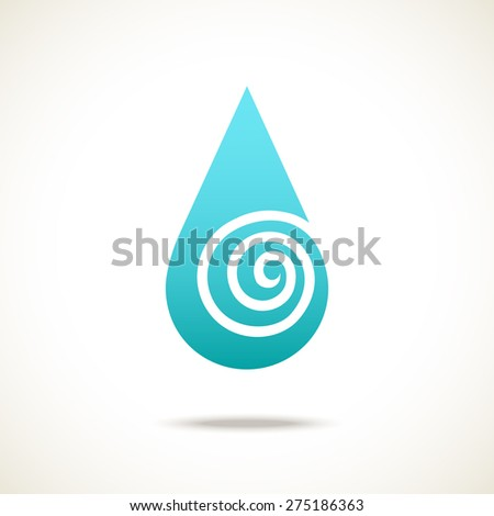 Vector water drop. Logo design template. Simple illustration for print, web - stock vector