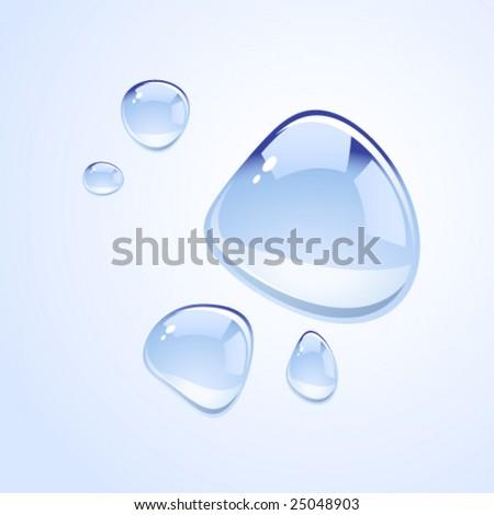 Vector water drops - stock vector
