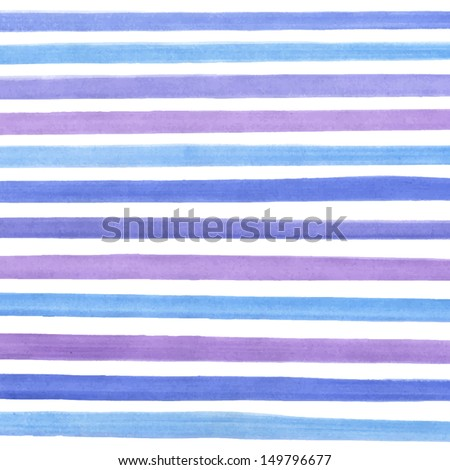Vector watercolor lines background. Abstract multicolor texture. Fun blue lines background for your design - stock vector