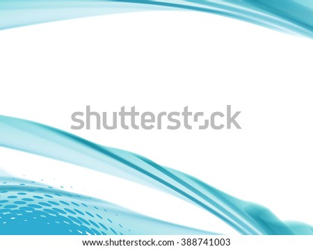 Vector wave and curve line. EPS10 with transparency. Abstract composition with curve line. Three dimensional effect line. Background with copy space. Place for text. Border line - stock vector