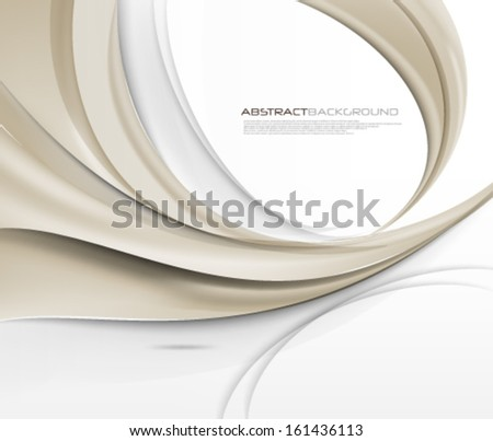 Vector Wave Elegant Background - stock vector