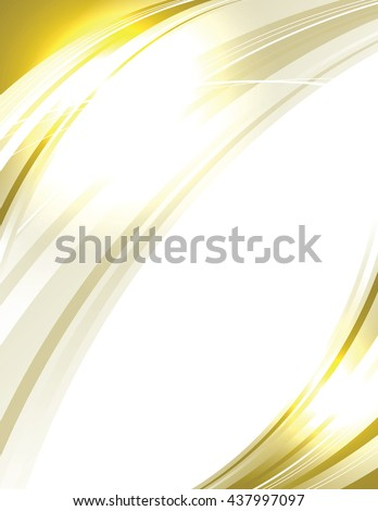 Vector Wavy Golden Background. Abstract Sparkly Illustration. - stock vector