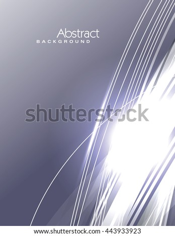 Vector Wavy Silver Background. Abstract Sparkly Illustration. - stock vector