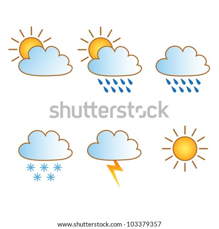 Vector weather forecast icons - stock vector