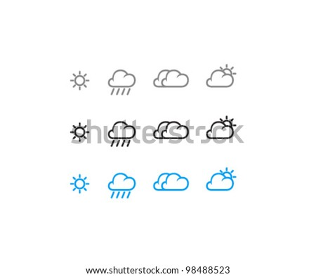 Vector Weather Icon Set - stock vector