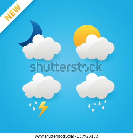 Vector weather icons - stock vector