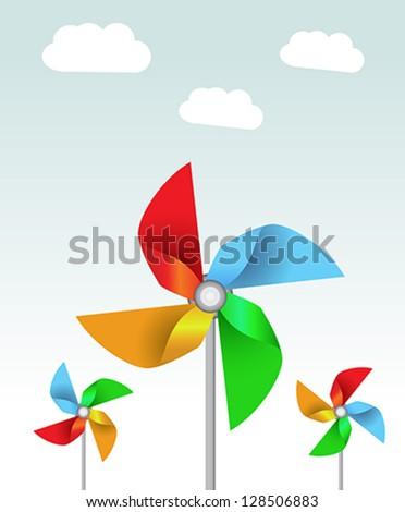 Vector weather vane in a shape of flower - stock vector