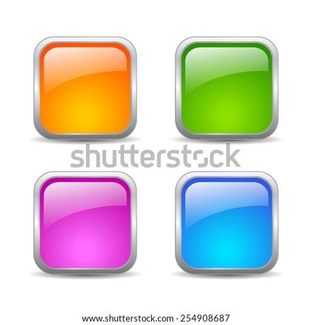 Vector web buttons set - stock vector