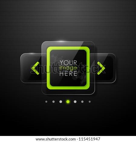 Vector web gallery design - stock vector