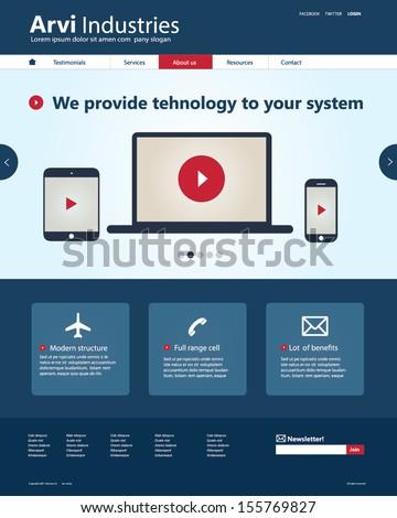 Vector Web Landing Page or Web design Portfolio Template - stock vector