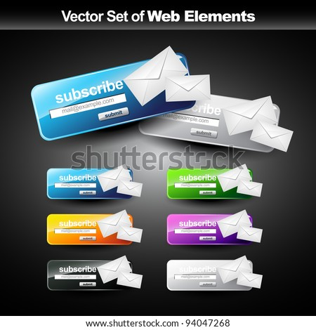 vector web subscribe button for your work - stock vector