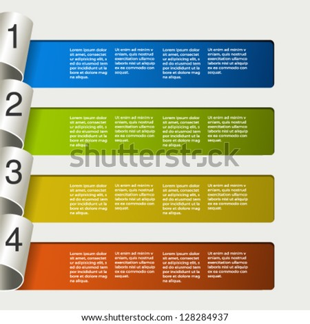 Vector web template -  4 steps, options, banners - stock vector
