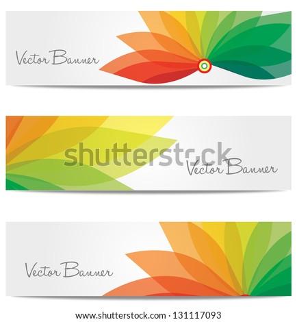 vector website header or banner set. EPS 10. - stock vector