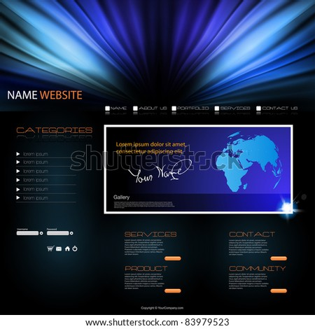 vector Website modern Design Template - stock vector