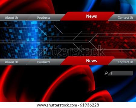 vector website template. Elements for design. Eps10 - stock vector